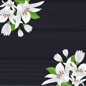Letnia wiosna kwitnący kwiat natura ramki na desce