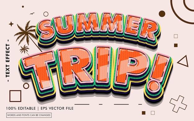 Letnia wycieczka! styl efektu tekstowego