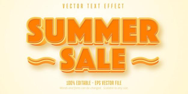 Letnia wyprzedaż edytowalny efekt tekstowy