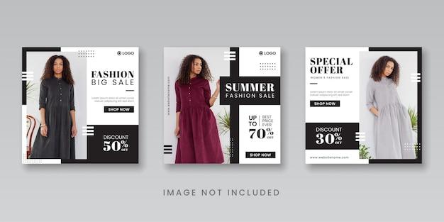 Letnia wyprzedaż mody w mediach społecznościowych szablon