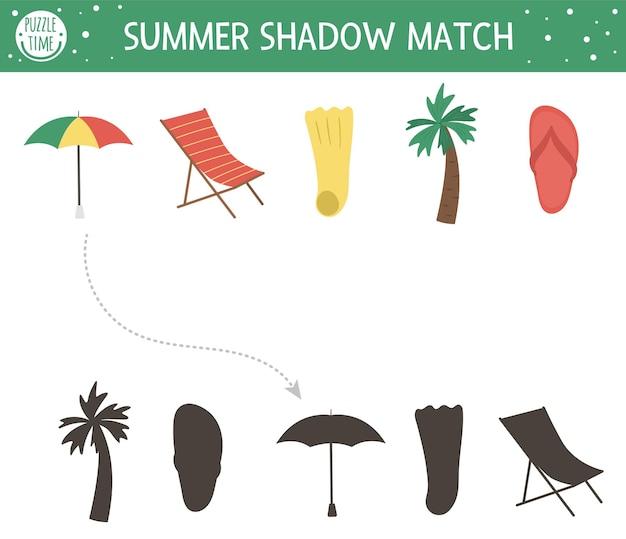 Letnia zabawa w dopasowywanie cieni dla dzieci