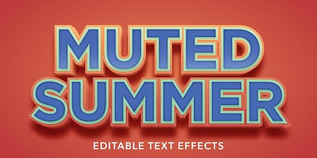 Letnie edytowalne efekty stylu tekstu