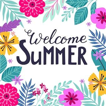 Letnie etykiety logo ręcznie rysowane tagi i elementy karta na letnie wakacje