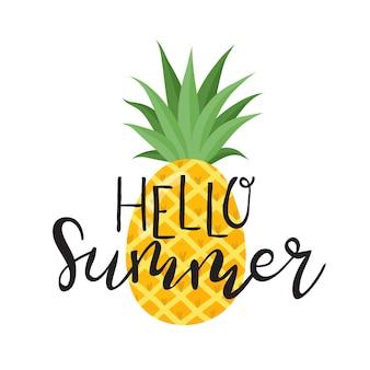 Letnie etykiety logo ręcznie rysowane tagi i elementy ustawione na lato