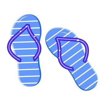 Letnie klapki. buty plażowe. ilustracja wektorowa
