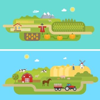 Letnie krajobrazy rolnicze