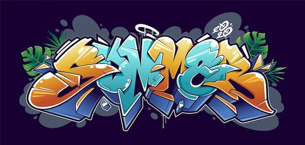 Letnie litery graffiti