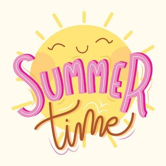 Letnie litery ze słońcem