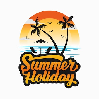 Letnie logo plaży