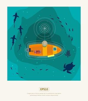 Letnie mieszkanie, wędkarstwo rybackie na głębokim morzu