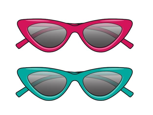 Letnie okulary w stylu vintage moda w stylu kociego oka w stylu obręczy