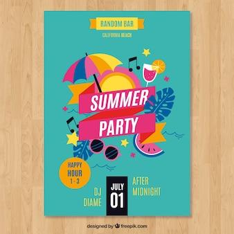 Letnie party plakat