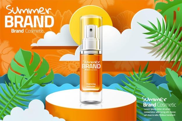 Letnie reklamy produktów w sprayu