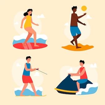 Letnie sporty ilustracja koncepcja