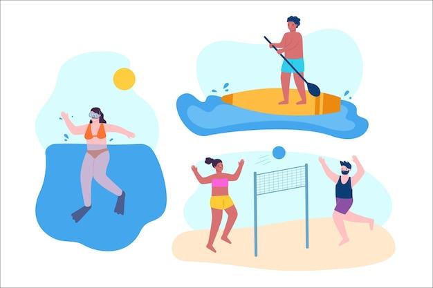Letnie sporty z ludźmi