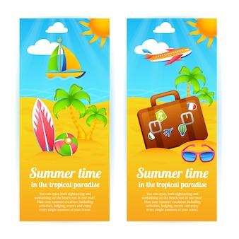 Letnie wakacje banery