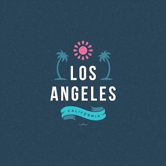 Letnie wakacje etykieta lub odznaka slogan typografii