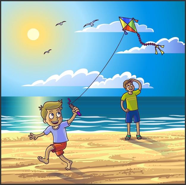 Letnie wakacje na plaży.