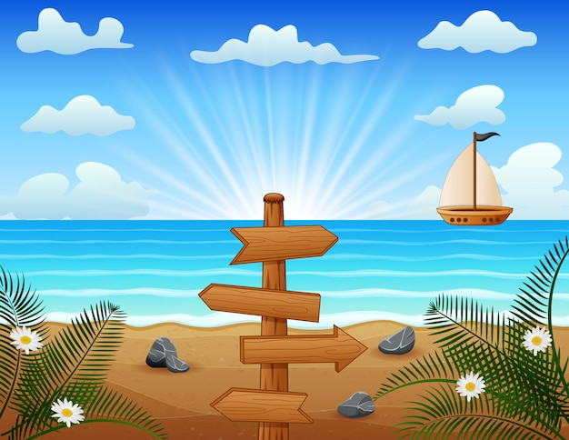 Letnie wakacje na tropikalnej plaży