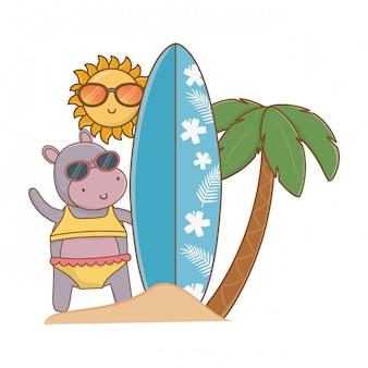 Letnie wakacje relaks kreskówki