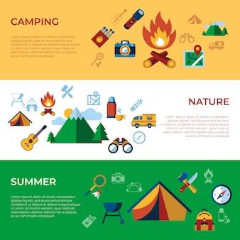 Letnie wakacje sportowe kolekcja ikony działań
