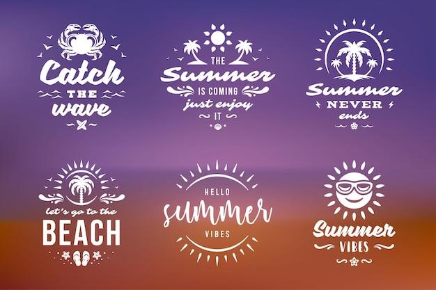 Letnie wakacje typografia inspirujące cytaty