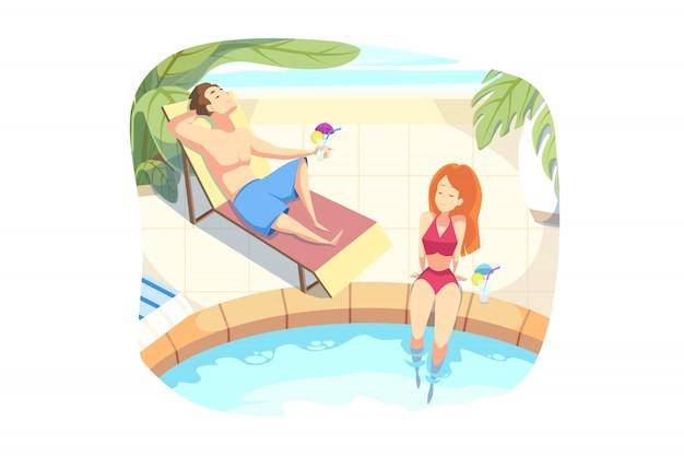 Letnie wakacje, wakacje, koncepcja odpoczynku