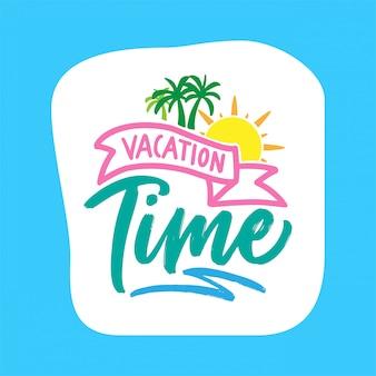 Letnie wakacje wakacje typografia projekt plakatu