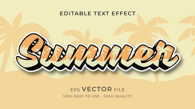 Letnie wibracje edytowalny tekst efekt koncepcji