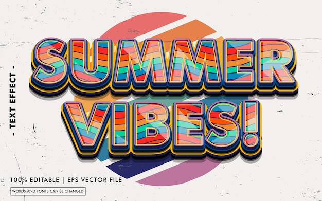 Letnie wibracje! styl efektu tekstowego