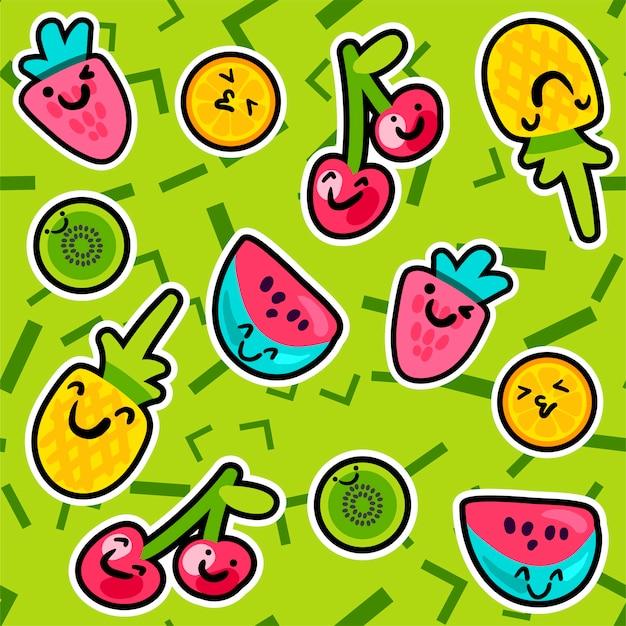 Letnie wzory owoców