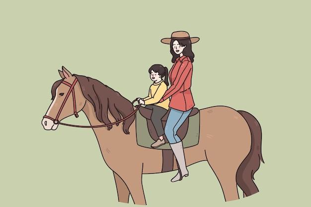 Letnie zajęcia i koncepcja jazdy konnej