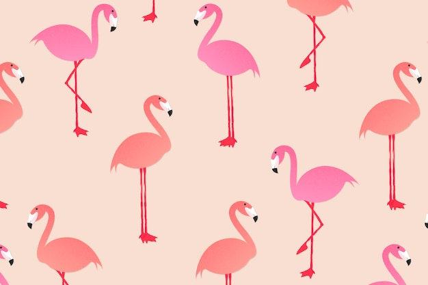 Letnie zwierzę wzór tła tapety, ilustracji wektorowych flamingo