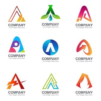 Letter kolekcja logo firmy