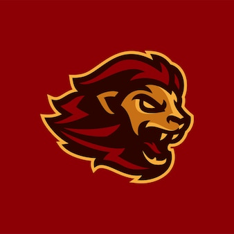 Lew esports logo maskotka ilustracji wektorowych