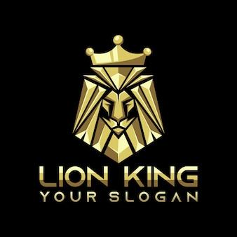 Lew król logo wektor, szablon, ilustracja