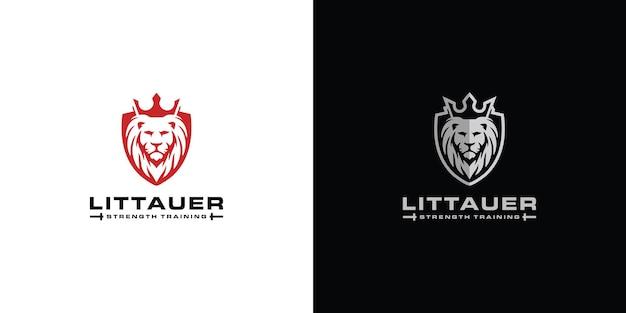 Lew wektor ikona ilustracja projekt logo szablon wektor premium wektorów