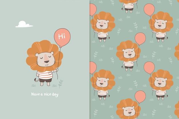 Lew z wzór balonu
