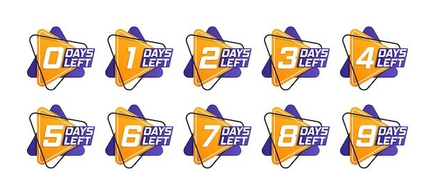 Liczba dni pozostałych do odliczania szablonu