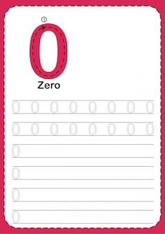 Liczba zliczania do nauki 0.