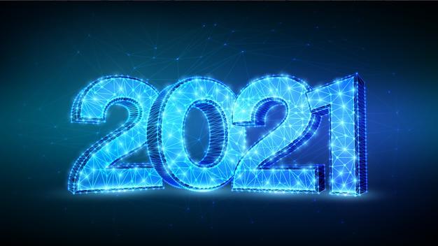 Liczby 2021. projekt transparentu szczęśliwego nowego roku 2021.