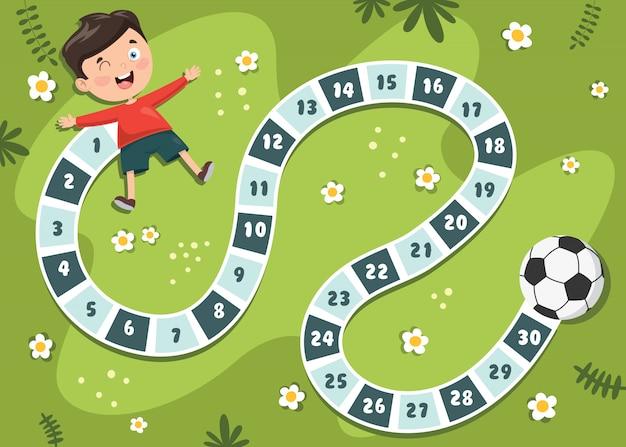 Liczby boardgame ilustracja do edukacji dzieci