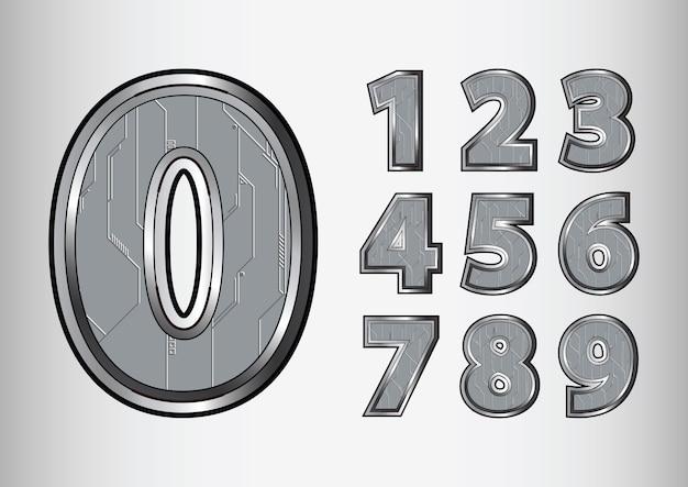 Liczby obiektu scifi tech style