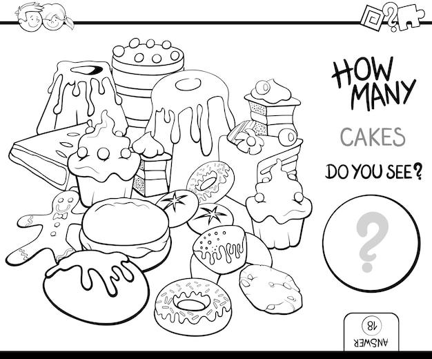 Liczenie ciasta kolorowanki