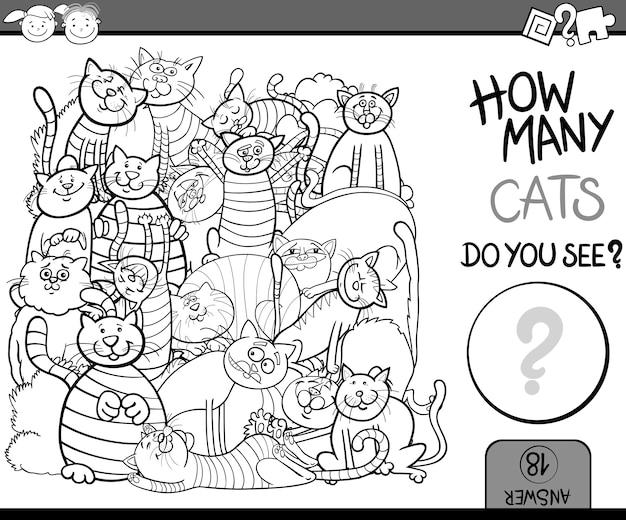 Liczenie kolorowanki cartoon gry