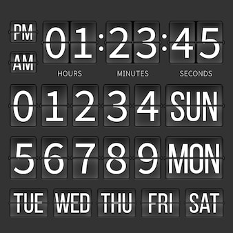 Licznik czasu na lotnisku