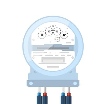 Licznik energii elektrycznej, ikona licznika elektrycznego, licznik analogowy