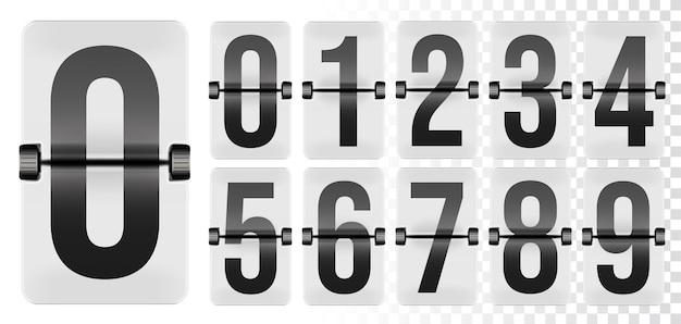 Licznik numerów zegarów na klapie stolika na tablicę przylotów i odlotów.