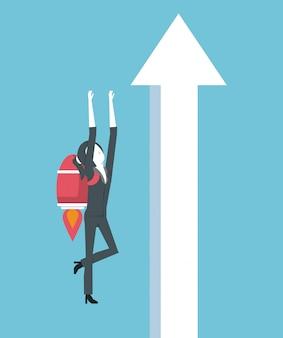 Lider biznesu i wysoki wynik