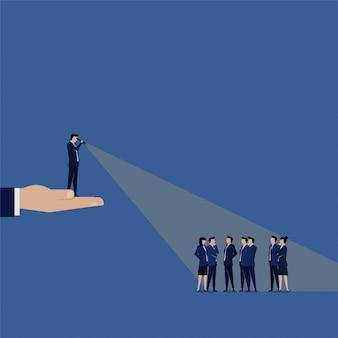 Lider biznesu szuka nowego pracownika.